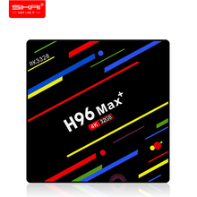 H96 Max+ Set Top Box for Bluetooth 4.0 Quad-core Android 9.0 4G 64G RK3328 Smart TV Box Mali-450 GPU 2.4G/5.0GHz wifi Family TV