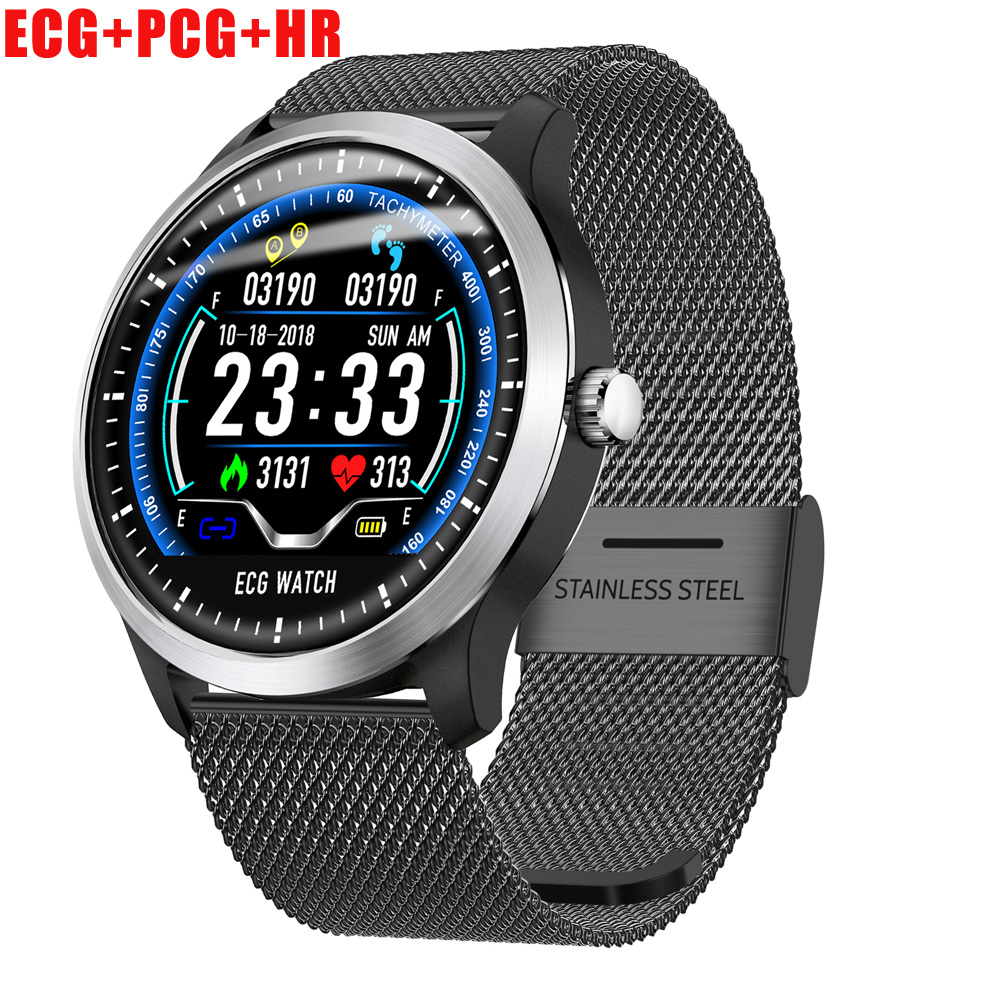 Permalink to ECG PPG Smart Watch Men Heart Rate Monitor Blood Pressure Fitness Tracker Smartwatch Smart Band IP67 Waterproof N58 Wristwatch