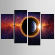 4 Pieces/set Abstract the cloud Wall Art For Wall Decor Home Decoration Picture Paint on Canvas Prints Painting framed/XYS-100(China)