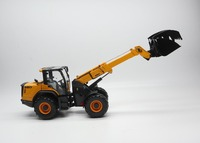 Rare,Diecast Toy Model ROS 1:32 Dieci Wheel Loader Wood Grab Engineering Vehicles Model for Boy Gift,Man Collection,Decoration