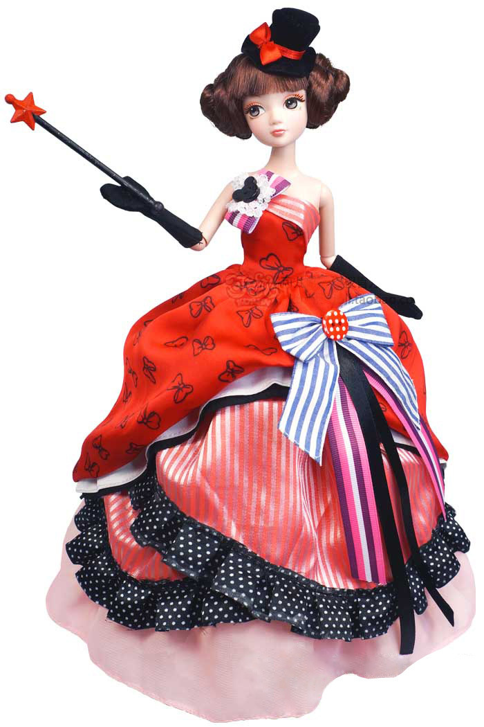 A0365 Best girl gift in box 29cm Kurhn Chinese Doll Spring Fairy Chinese Gift Traditional magic dinner with evening dress