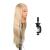 """$ Number """"Pantalla de peluquería Hair Styling Formación Práctica Cabeza Modelo de La Cabeza Cabeza de Maniquí Femenino con soporte con pinza de pelo Largo"""