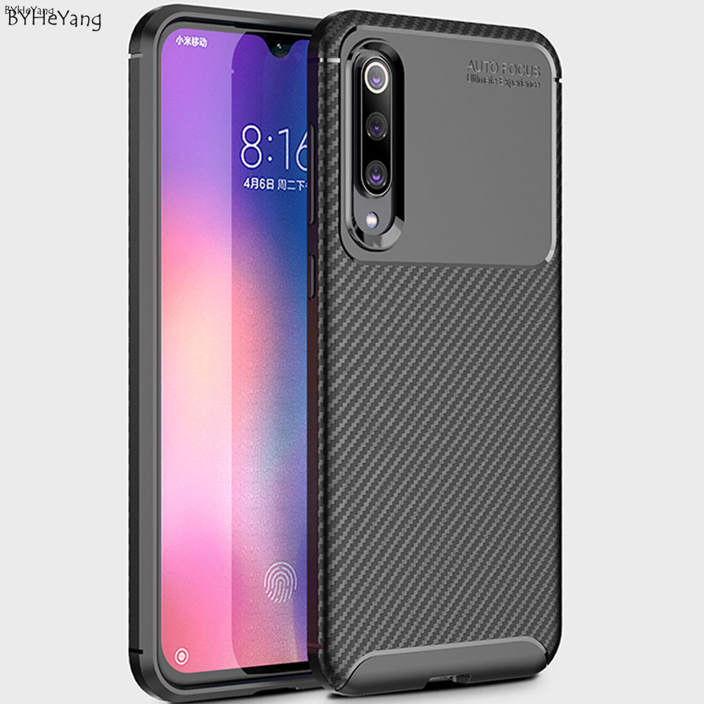 For Xiaomi Mi 9 SE Case Leather Soft TPU Phone Case For Mi9 SE Cover Shockproof Case 360 Full Protection Cover Bumper On Mi9se