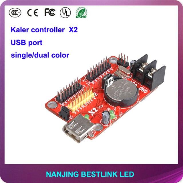 32*1024 pixel калер привело контроллер карты X2 порт USB led контроллер для p10 открытый светодиодная вывеска программируемые светодиодные табло доска
