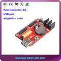 32*1024 pixel kaler led controller card X2 USB port led controller for p10 outdoor led sign led programmable sign display board