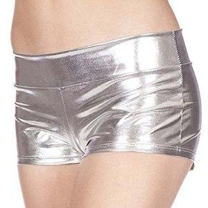 Image 5 - Short Sexy pour femmes, Short dété, Imitation cuir, Short amusant, à Angle plat, mode féminine