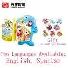 Livro de aprendizagem crianças brinquedos de plástico brinquedos interativos educacionais para o bebê aprender inglês aprendizagem brinquedos para o bebê crianças presente de aniversário