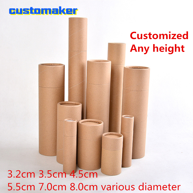 Customized Size Round Kraft Postal Shipping Mailing Packaging Paper Tube Canister Tube Cylinder For Drawings Paintings Posters