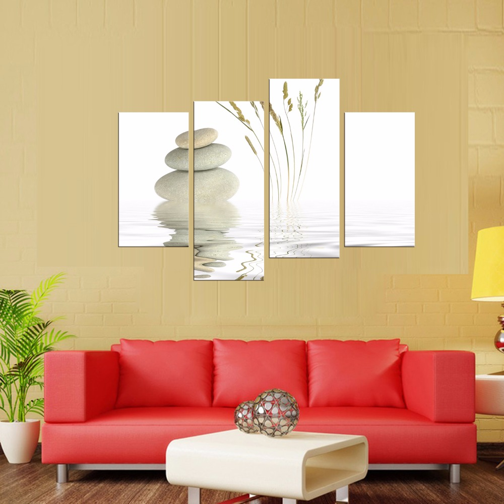 4 Pieces Unframed Wall Art Picture Gift Home Decoration Canvas Print ...
