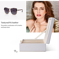 FANXI New Paper Glasses Box Multi functional Organizer Four Grid Sunglasses Package Button Glasses Cases