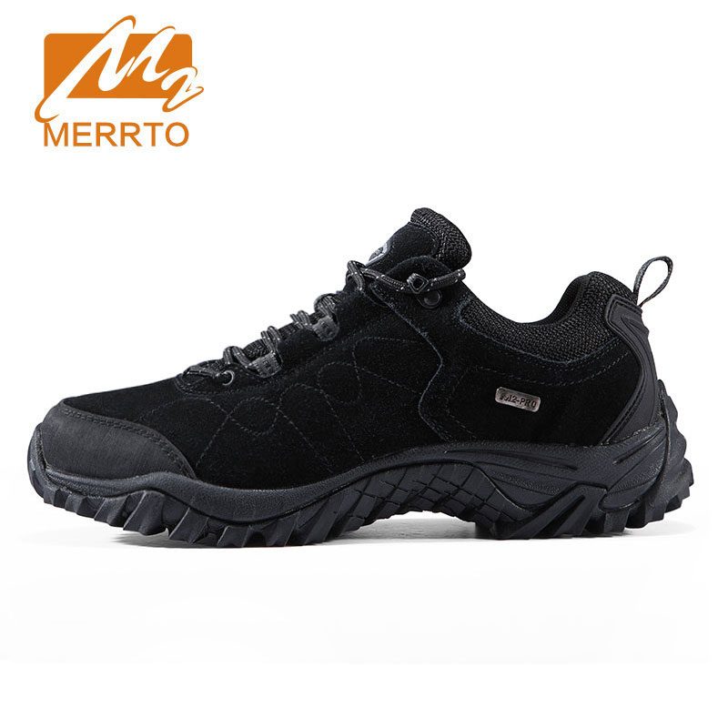 Merrto Suede Leather Hiking Shoes Men Trekking Shoes Men Women Outdoor Sports Sneakers Walking Climbing Shoes Mens Hiking Boots 2018 merrto women hiking boots waterproof outdoor sports shoes full grain leather plus velvet for women free shipping 18001