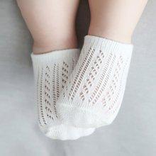 Малыш 0-3 Y Дышащий Новорожденный Летние Сплошной Цвет Выдалбливают Носки Мальчик Девочка Мягкий Носок Детей Носки