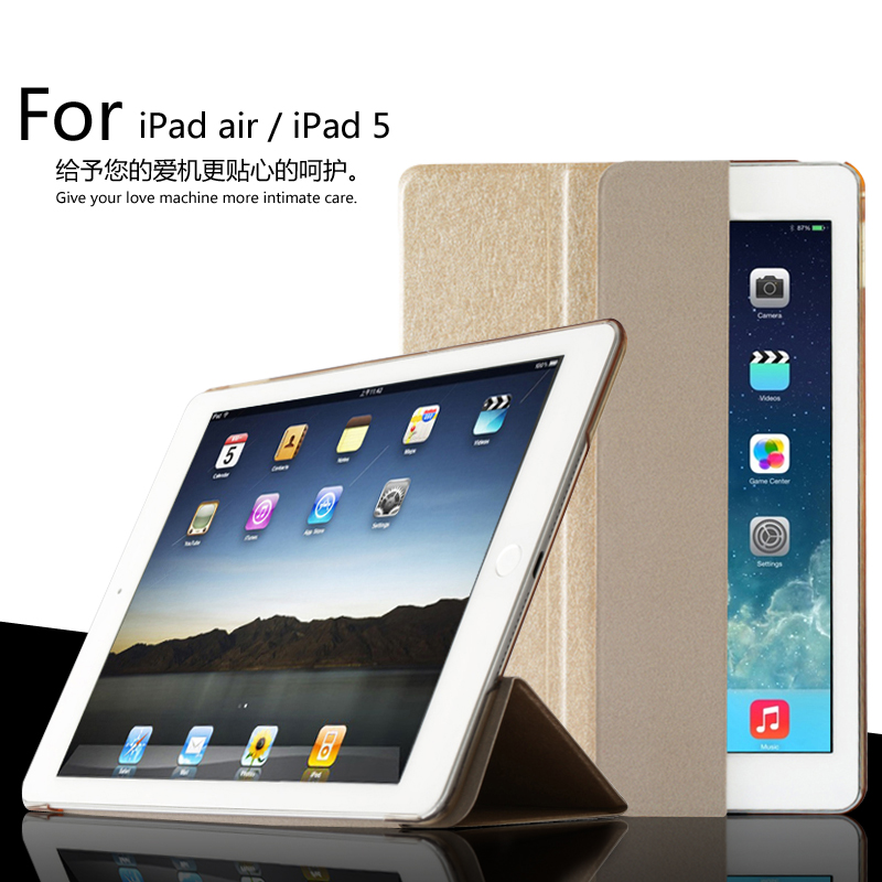 For iPad Air / For iPad 5 Smart Sleep Case Cover, Ultra Slim Designer Tablet Leather Cover For iPad5