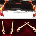 Para Honda Fit Jazz terceiro 2014 2015 2016 Estilo Do Carro 12 V 10 W ABS + LED Traseira da Cauda Correndo Lâmpada Pilar Quebrar Kit Luzes de Advertência sinal