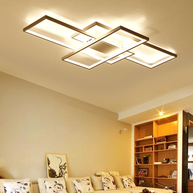 NEO brillo nueva llegada moderno led luces de techo para sala de estar dormitorio comedor luminarias led blanco o negro de techo lámpara - 3