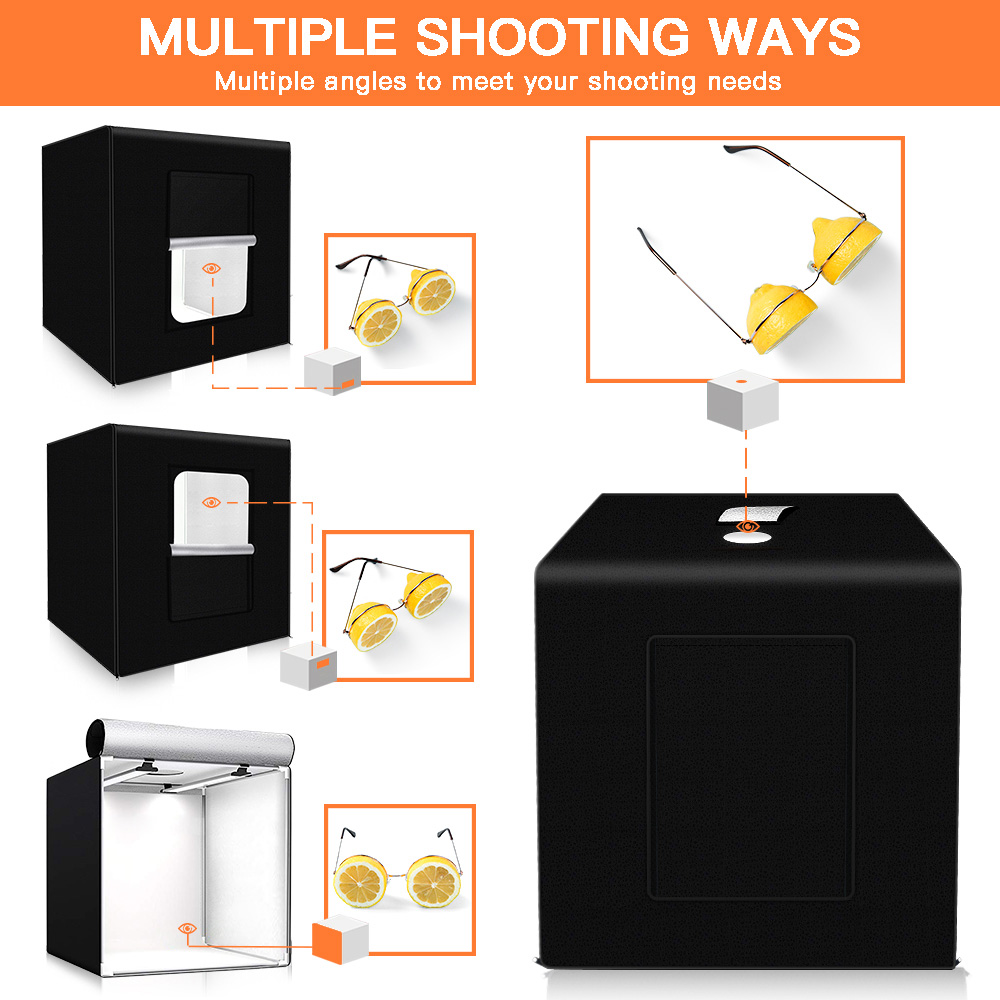 Image 5 - SAMTIAN Light Box 40*40CM Folding LED Lightbox Studio Photo box With 3 Colors Background For Jewelry Toy Accessories Photography-in Tabletop Shooting from Consumer Electronics