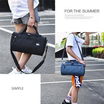 Scione Men Travel Sport Bags Light Luggage Business Cylinder Handbag Women Outdoor Duffel Weekend Crossbody Shoulder Bag Pack 6