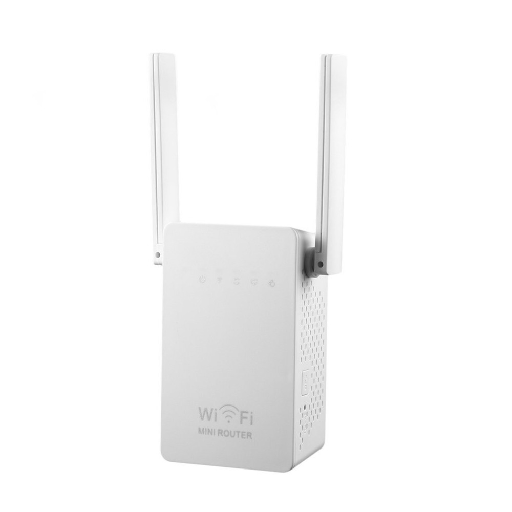 Small Size WiFi Range Extender 300Mbps High Gain Universal Wireless-N AP/Repeater WIFI Router Dual Aerials