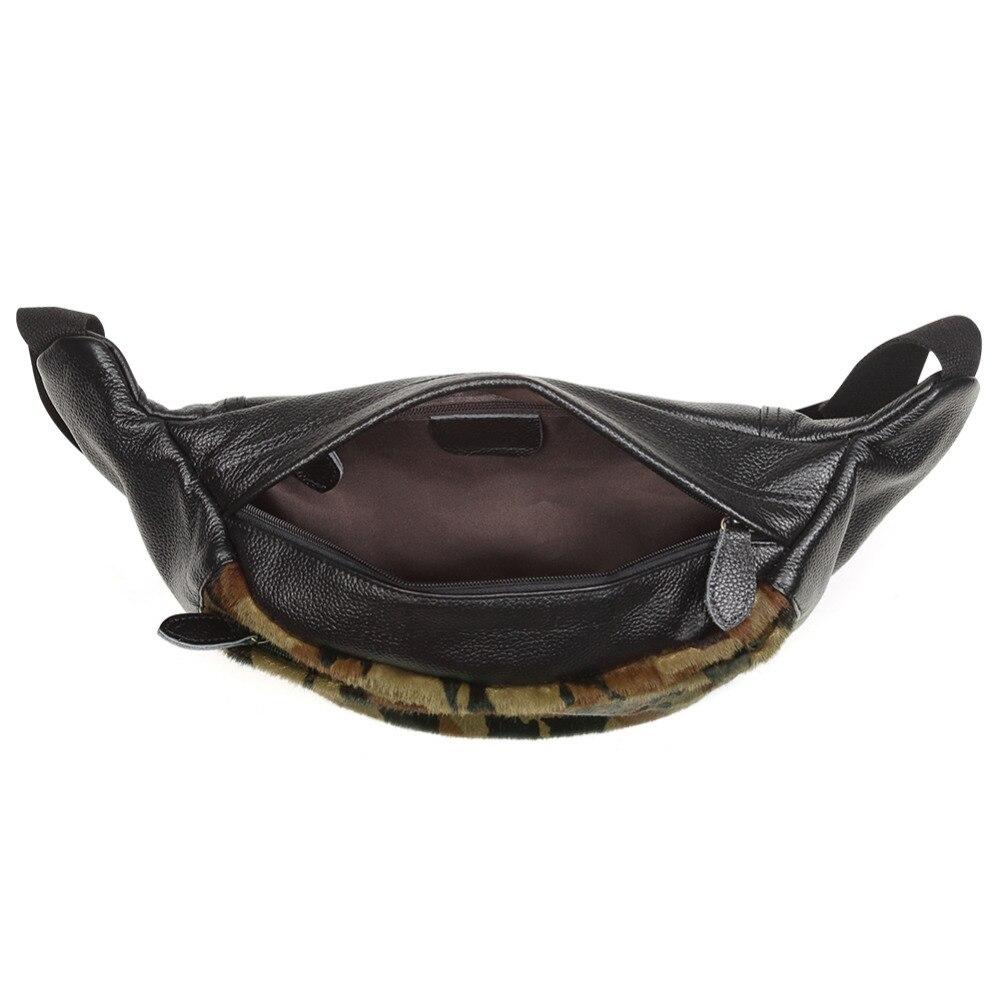 Мужские поясные сумки из натуральной кожи, камуфляжные нагрудные сумки, поясные сумки, мешочки для телефона, поясные сумки для путешествий, Мужские поясные сумки, кожаные сумки - 6