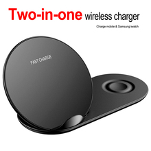 Wireless Charger for iPhone X XS for samsung Watch 1 2 3 4 Samsung Gear S2 S3 S4 Note 9 Watch Fast Wireless Charger s4 qia qi standard wireless charger wireless charger receiver for samsung galaxy s4 black