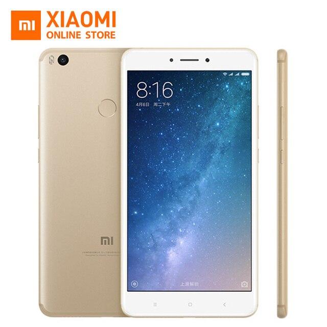"""Oryginalny xiaomi mi max2 max 2 telefon komórkowy 4 gb ram 64 gb rom 5300 mah 6.44 """"Snapdragon 625 Octa Rdzeń 1080 P 12MP QC 3.0"""