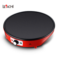 LSTACHi Multifunction Non stick Electric Crepe Maker Pizza Pancake Baking Pan Fried Chicken Griddle Pie Frying Grill Steak Cook