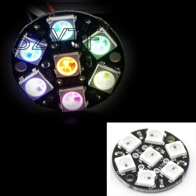 10pcs 7 Bits 7 X WS2812 5050 RGB LED Ring Lamp Light with Integrated Drivers(China)