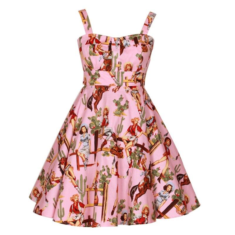 Retro clothing Frida Kahlo Audrey Hepburn Halter Neck Swing Dress ...