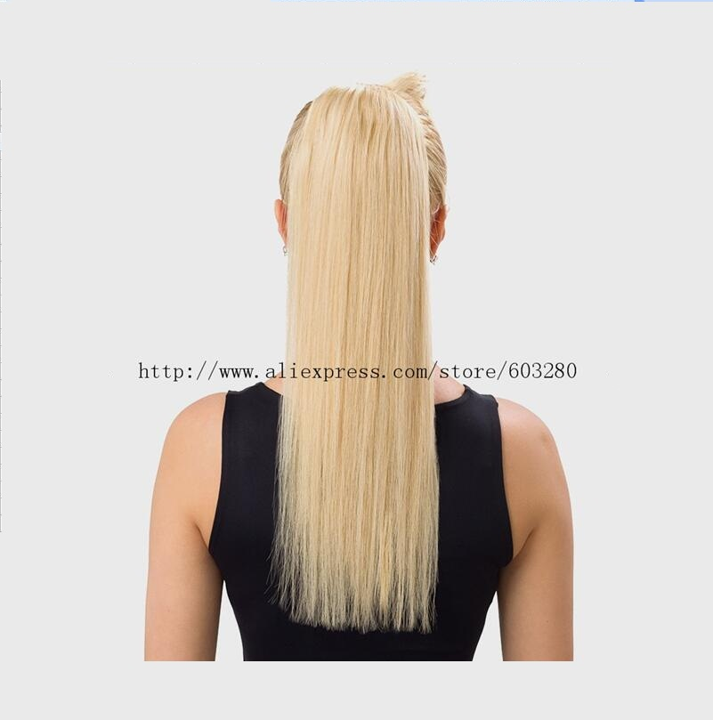 30 Fantastic French Braid Ponytails 16-32inch Straight 180g Wrap-Around 1pc Ponytail  Human Hair With Custom Length