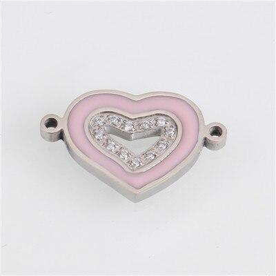 Модный Золотой/Серебряный геометрический кулон из нержавеющей стали в форме сердца и Луны для браслетов, браслетов, ожерелья, ювелирных изделий - Цвет: AC18240