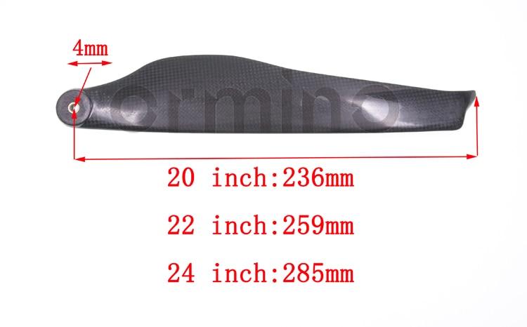motor 22 24 Polegada hélice de carbono