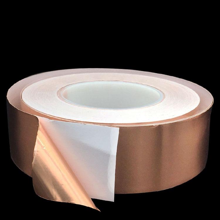 20 Meters Single Side Conductive Copper Foil Tape Strip Adhesive EMI Shielding Heat Resist Tape 2mm 3mm 4mm 5mm 6mm 8mm 10mm