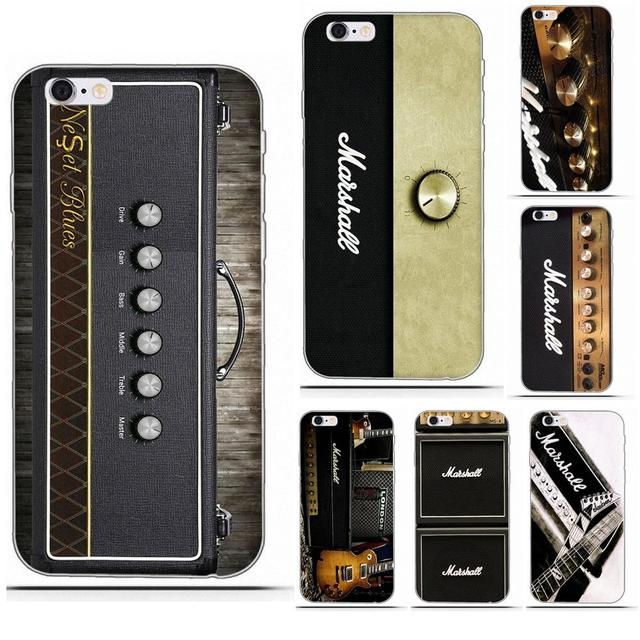 Marshall Electric Guitar Amp Amplifier For iPhone 4 4S 5 5C SE 6 6S 7 8 Plus X Galaxy S5 S6 S7 S8 Grand Core II Prime Alpha