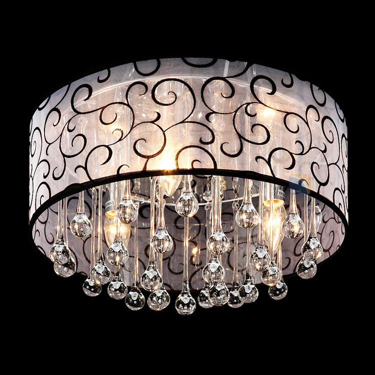Youlaike Modern Crystal Ceiling Light Surface Mounted LED Ceiling Lamps Bedroom Cristal Light Fixtures