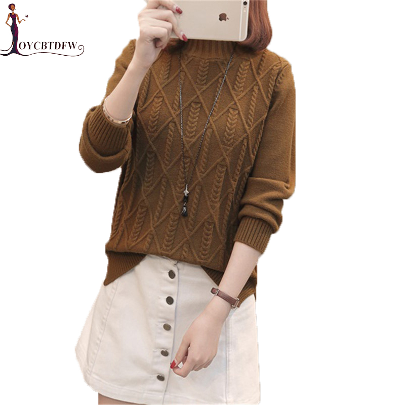turtleneck Sweater Female 2019 Spring Autumn New Korean Fashion Elegant Twist Warm Pullover Winter Women Knit Sweater Pullover N Price $49.70