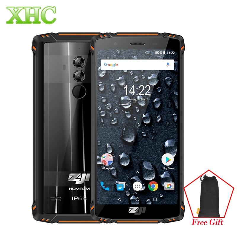 HOMTOM ZOJI Z9 double 4G téléphones mobiles 5.7 pouces Android 8.1 IP68 étanche 6 GB + 64 GB visage empreinte digitale déverrouiller OTG VoLTE Smartphones