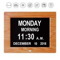 Digital Calendar Day Clock Electronic Date Time Display Large LED Alarm Clock 8 Gifts for Seniors Memory Loss Elderly Dementia