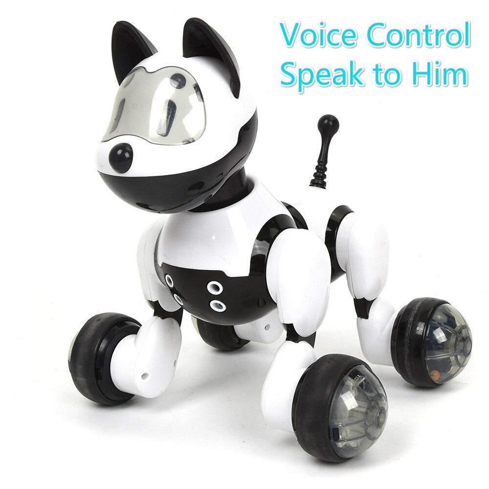 Youdi Control de voz perro y gato Robot inteligente electrónico mascota programa interactivo baile caminar robótico Animal juguete gesto siguiente