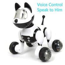 Youdi голос Управление собак и кошек Умный Робот Электронные Pet интерактивные программы Танцы ходить Роботизированная животных игрушек жест следующие