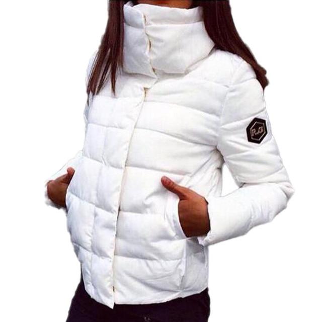 2017 Nova Outono Inverno Gacket Mulheres Casaco de Moda Feminina Para Baixo Mulheres Jaqueta Parkas Jaquetas Casuais Inverno Casaco Amassado Plus Size