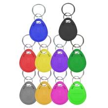 Étiquette porte clé RFID 100 pièces, identifiant 125khz, TK4100 EM4100, contrôle daccès, temps de présence, jeton