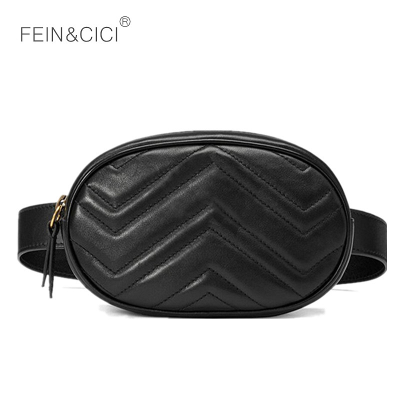 Belt Bag Waist Bag Round Fanny Pack Women Luxury Brand Leather Handbag Red Black Beige 2018 Summer Hight Quality Wholesale