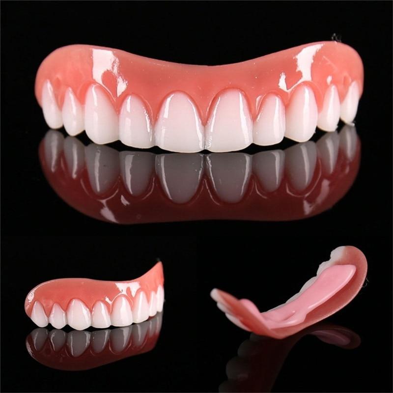 False Tooth Stickers Simulation Teeth Whitening Dentures Paste Braces Upper Tooth Cover Tool Perfect Smile Comfort Teeth Veneers 1