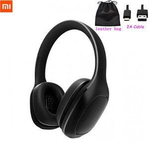 Image 1 - 2020 Xiaomi Mi Bluetooth Drahtlose Kopfhörer 4,1 Version Bluetooth Kopfhörer aptX 40mm Dynamische PU Headset Für Handy Spiele