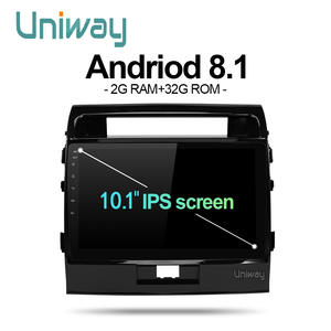 Uniway MKLZ1081 Android 8.1 Car DVD Player for toyota Land Cruiser Octa Core Car DVD GPS Navigation palyer Car Radio Multimedia