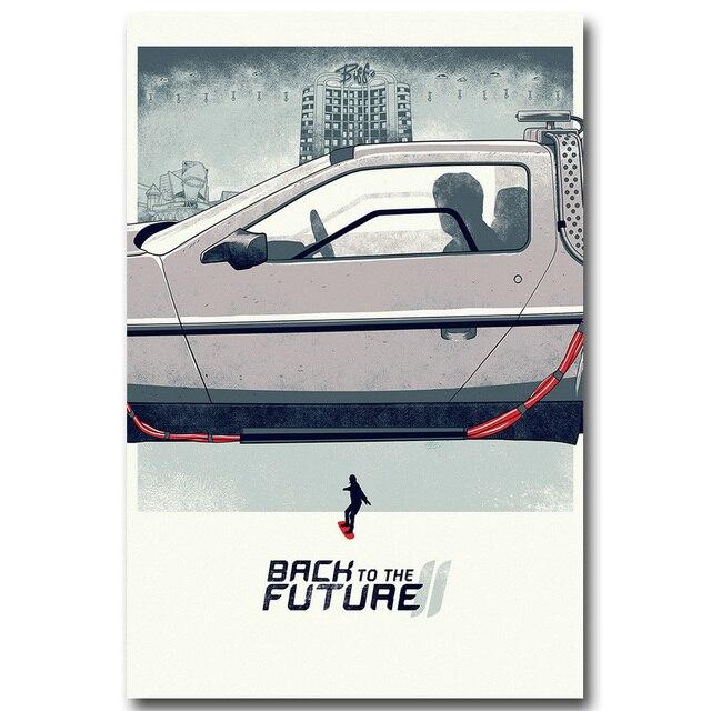 Плакат гобелен шелковый Назад в будущее вариант 5