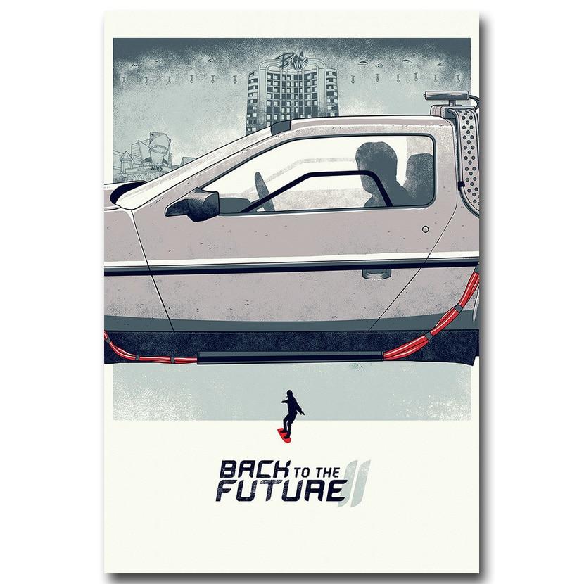 24x36Inch Art Back to the Future 1 2 3 Custom Silk Poster Classic Movie P-13