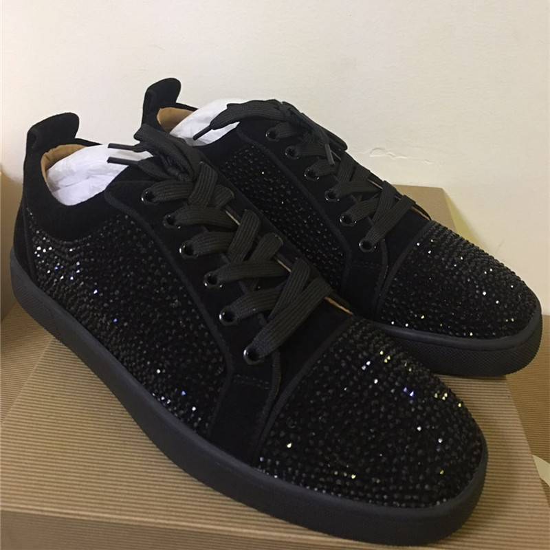 FNJACK Fashion Schuhe Authentic Black Suede & Strass Swarovski Louis - Herrenschuhe - Foto 3