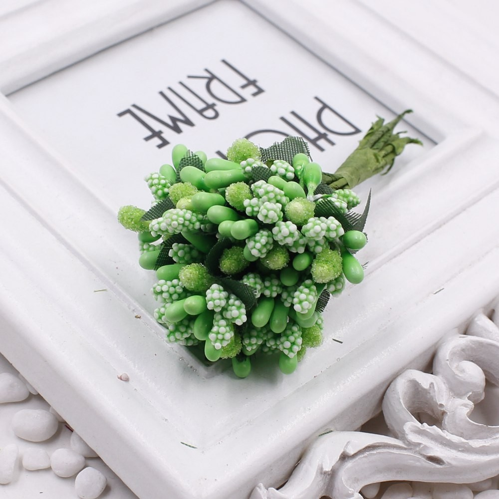 16 12pcs Berry Artificial Stamen Handmade Flower For Wedding Home Decoration Pistil DIY Scrapbooking Garland Craft Fake Flower 15