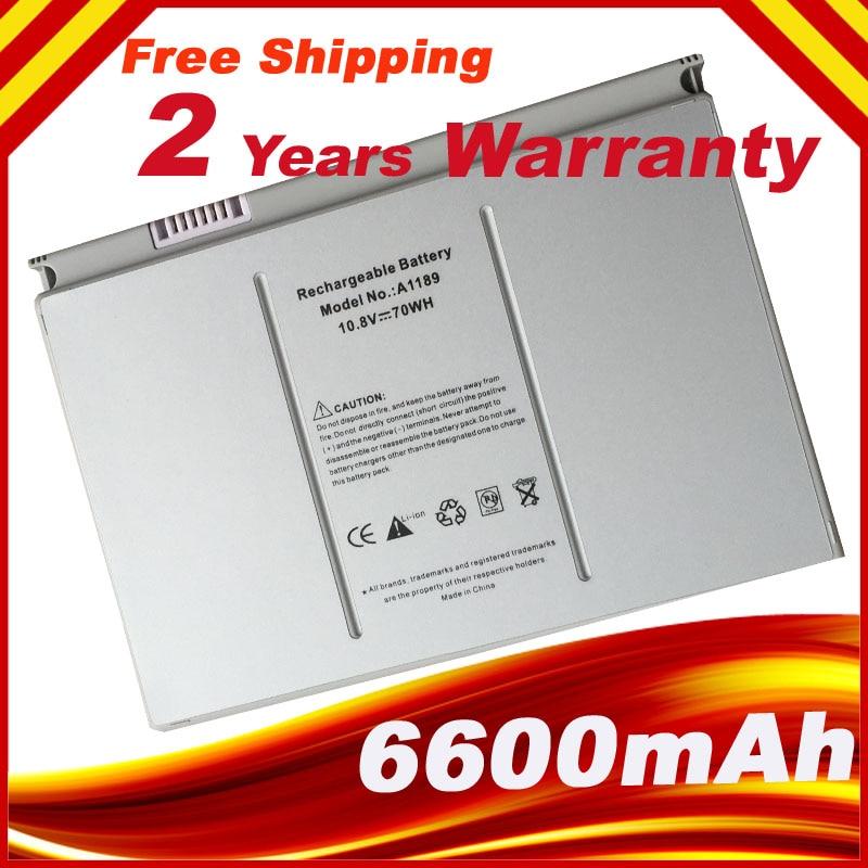 A1189 Laptopbatterij voor Apple Pro 17-inch A1151 A1189 MA611 MA458 - Notebook accessoires